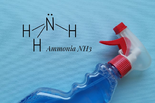 Structural,Chemical,Formula,Of,Ammonia,Molecule,With,Ammonia,Glass,Cleaner