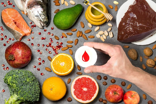 Food,Products,Useful,For,Blood.,Set,Of,Natural,Food,Products