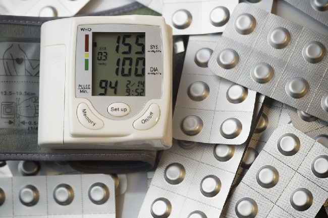Tonometer,High,Blood,Pressure,Indication,And,Pills,In,Foil,Blisters