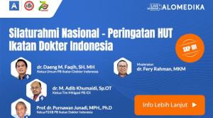 Live Webinar: Silaturahmi Nasional - Peringatan HUT Ikatan Dokter Indonesia