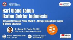 Live Webinar: Hari Ulang Tahun Ikatan Dokter Indonesia