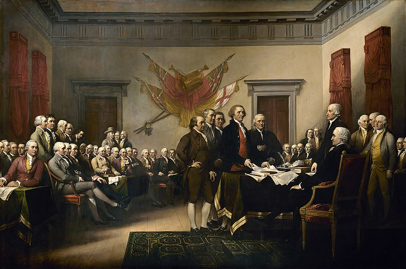 Events leading to the US Declaration of Independence
