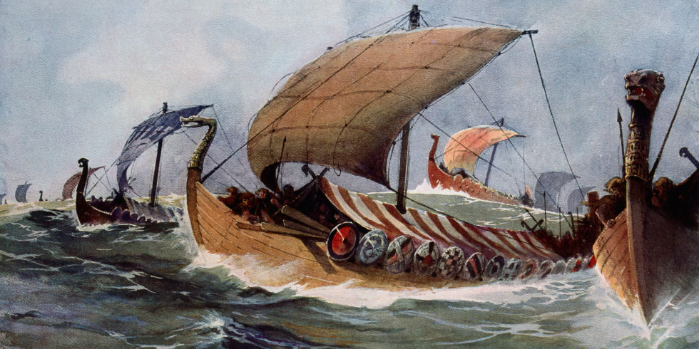 Viking raids to British Isles