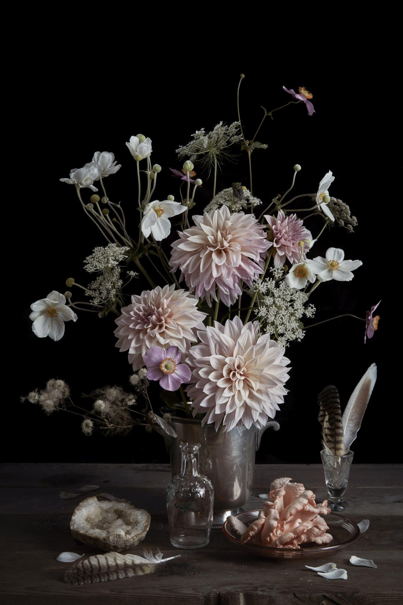 'Dahlia & Pink Oyster Mushroom' by Orlin Kristin Sjaardaat Gallery 133