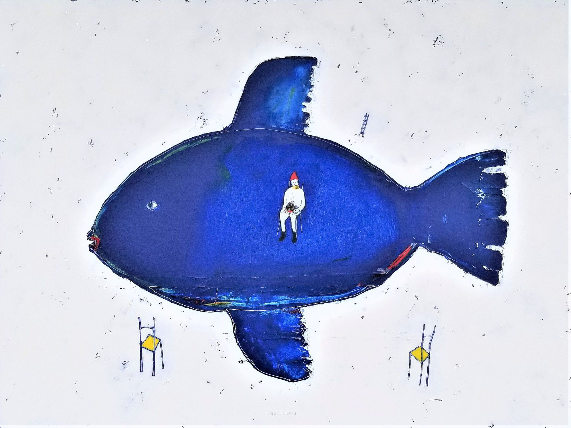 'Blue Fish' by Peter Barelkowski at Gallery 133
