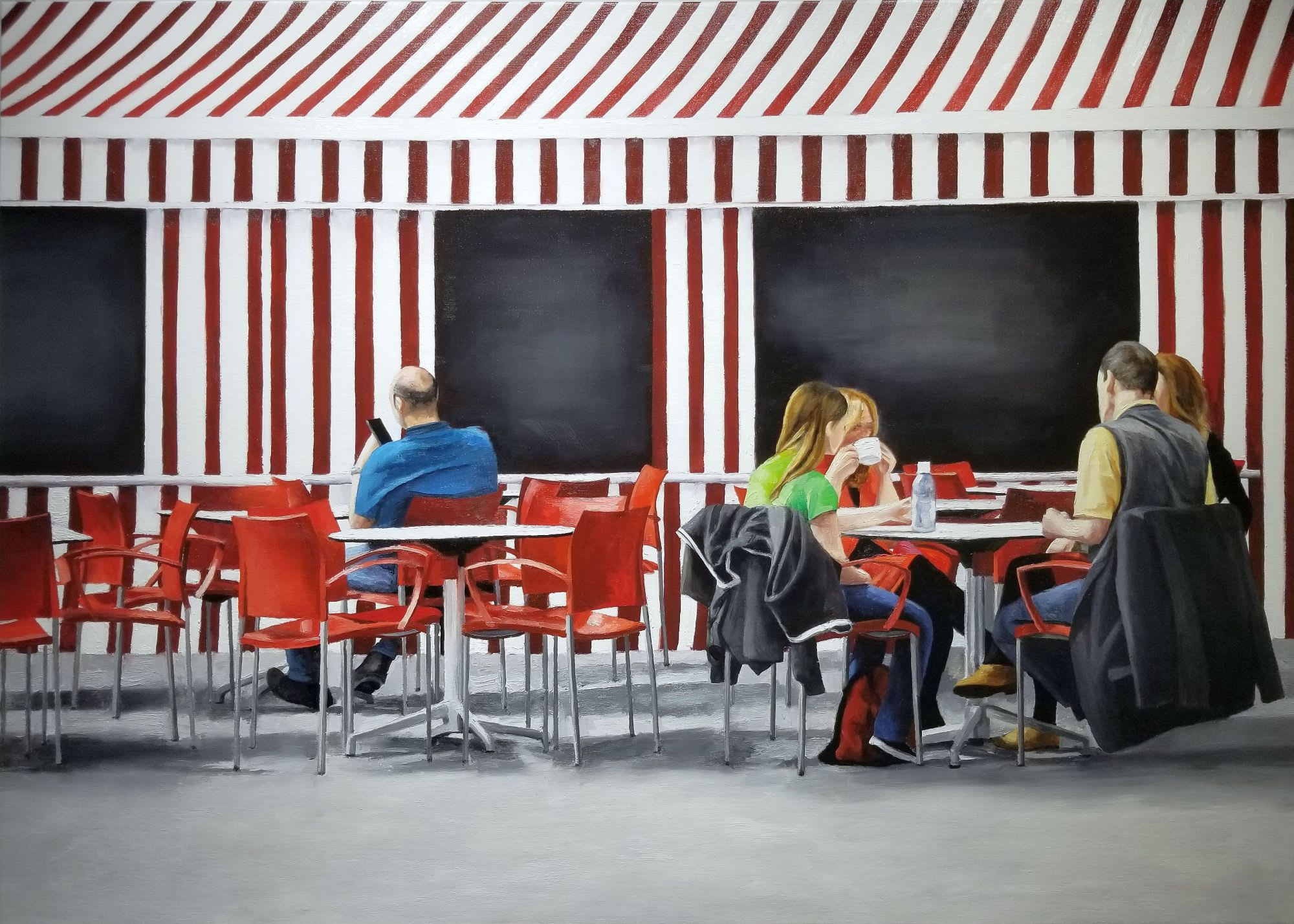 'Le Cafe' by Maria Carbonell at Gallery 133