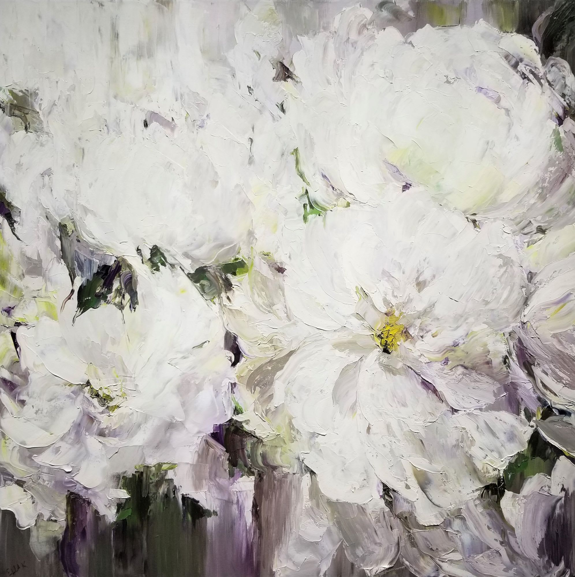 'White Peonia' by Ella K at Gallery 133