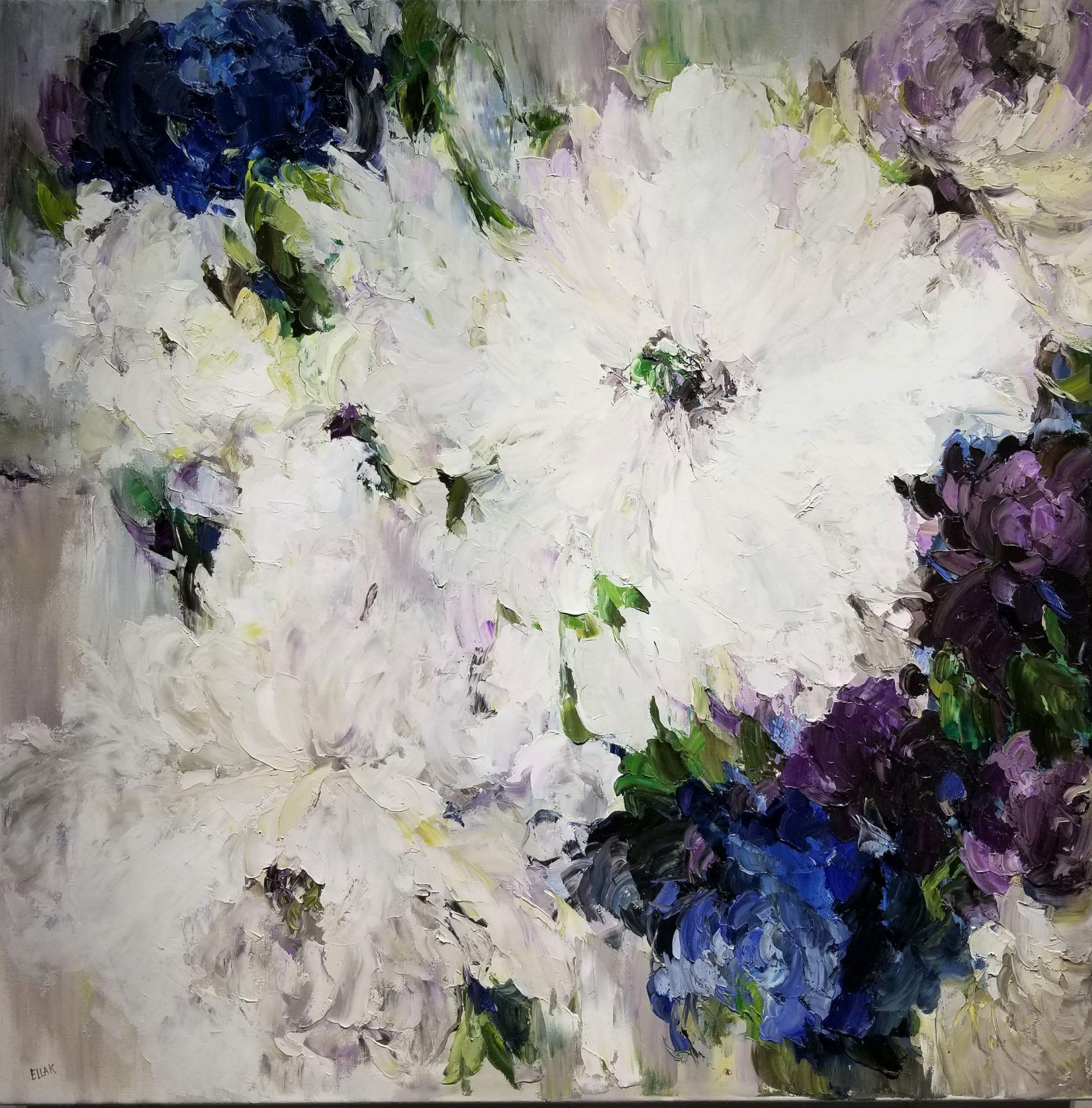 'Blue Peonia III' by Ella K at Gallery 133