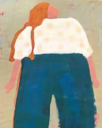 'Girl In Blue Pants' by Deborah Eyde at Gallery 133