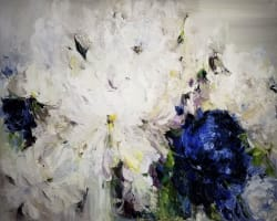 'Blue Peonia II' by Ella K at Gallery 133