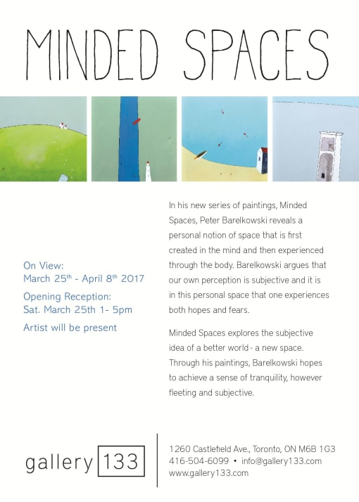 'Minded Spaces - Peter Barelkowski' at Gallery 133