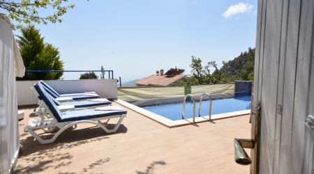 Kalkan Villa Bengü  with Land and Sea View