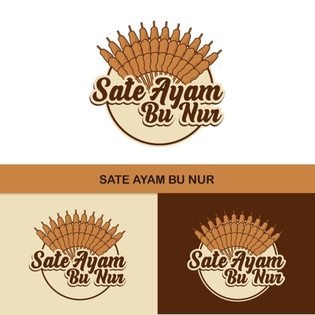 Jasa Desain Logo Sate Ayam untuk Bu Nur