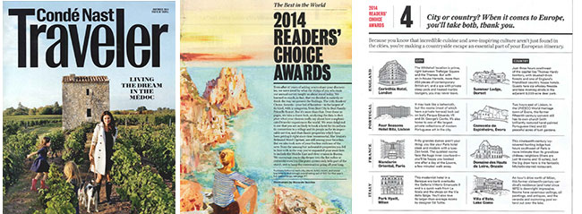 Condé Nast Traveler's 2014 Reader's Choice Award Winners