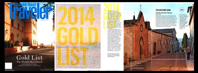 Condé Nast Traveler Cover Model: Castello di Casole