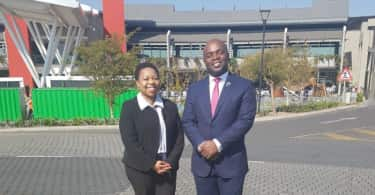 Olive Ndebele, GM of Menlyn Park Shopping Centre and Tshwane Executive Mayor, Solly Msimanga.