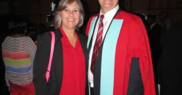 Rene Albasini from the SACSC and Professor Chris Cloete from the University of Pretoria