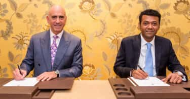 Alex Kyriakidis, President and Managing Director Middle East and Africa Marriott_ International and Mr Saleh Said Director of Pennyroyal Gibraltar.