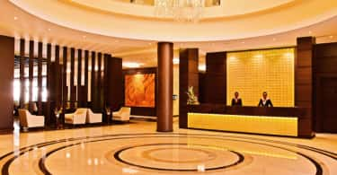 DoubleTree by Hilton Nairobi Hurlingham's reception.