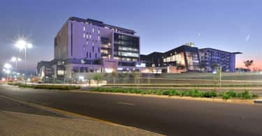 An exterior view of Menlyn Maine .