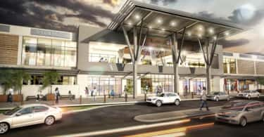 A artist's rendering of Kumasi City Mall.