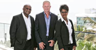 From left to right: Regis Usaiwevhu (Tyson Properties Richards Bay), Chris Tyson (CEO) and Linah Marijeni (Tyson Properties Richards Bay).