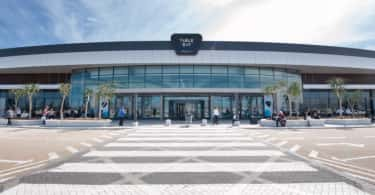 An exterior view of Table Bay Mall.