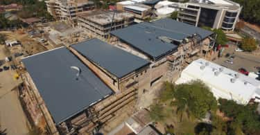 Aerial view of The Club, Atterbury's prestigious precinct development.