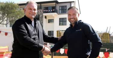 Steve Brookes, CEO of Balwin Properties and James Irons, CEO of SolarAfrica.