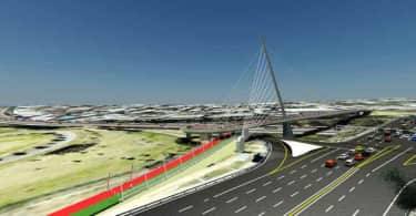 Grayston Pedestrian Cyclist Bridge