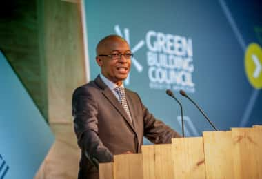 Parks Tau, President of the South African Local Government Association addresses delegates at the Green Building Convention 2017.
