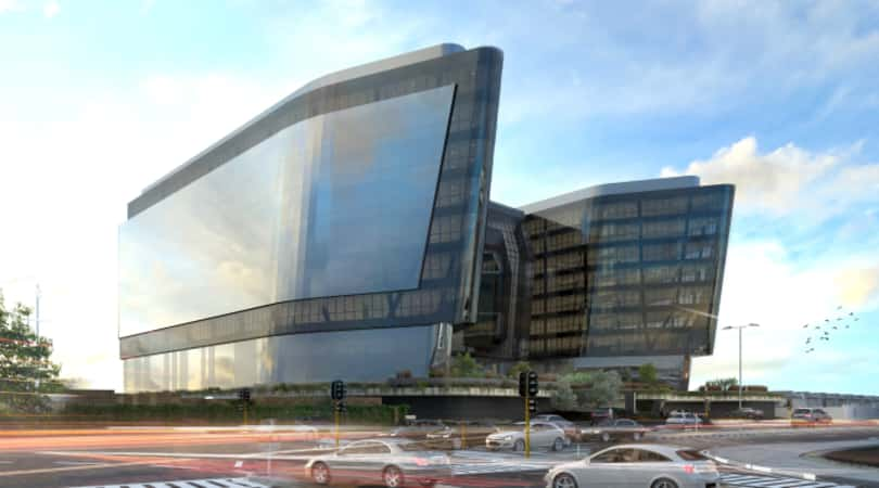 An architectural rendering of 144 Oxford office development in Rosebank.