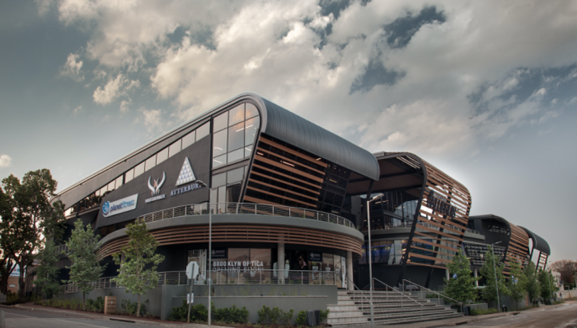 An exterior view of the Atterbury's new head office at Die Klubhuis in Pretoria.
