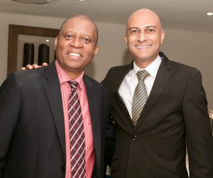 Executive Mayor of the City of Johannesburg, Councillor Herman Mashaba and SAPOA CEO, Neil Gopal.
