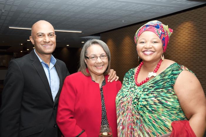 The Executive Mayor of the City of Cape Town, Patricia de Lille with SAPOA CEO Neil Gopal and SAPOA President, Nomzamo Radebe.