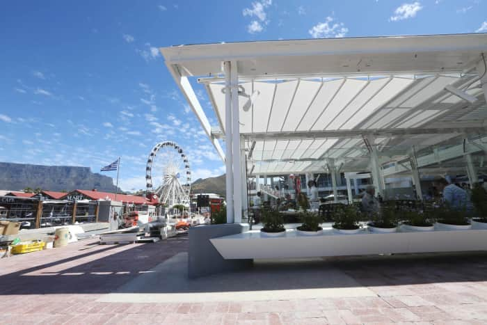 Awnings Installation V&A Waterfront
