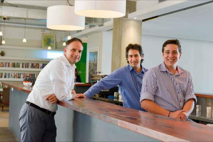 Co-owners of OPEN (from left) Paul Keursten, Mark Seftel and Westleigh Wilkinson.