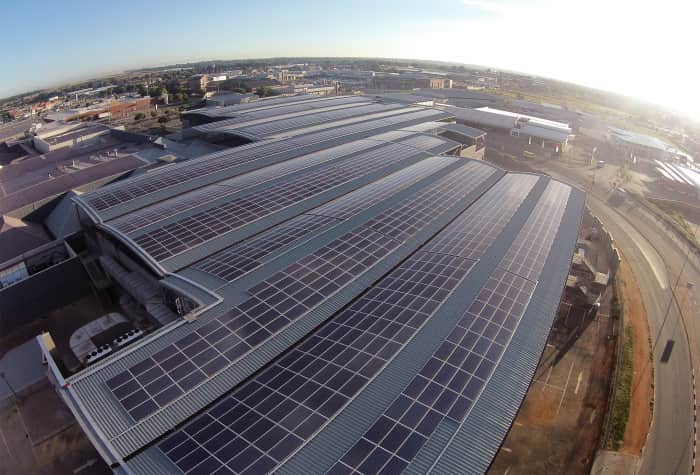 Vukile, Solar panel installation at East Rand Mall