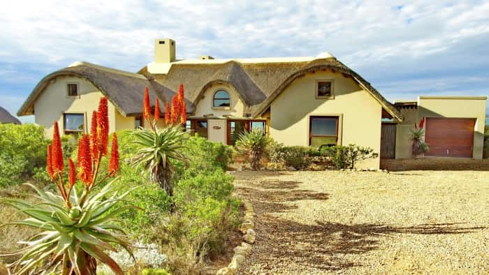 Pam Golding Properties are marketing homes in eco-friendly Springerbaai Coastal Estate near Mossel Bay. Priced at R2.73 million, this four bedroom, four bathroom home includes a large open plan lounge and flowing living space ideal for entertaining, as well as sweeping views across the fynbos to the ocean.