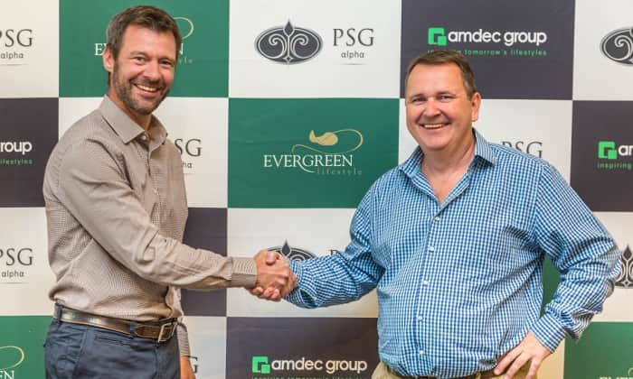 Nico de Waal, CEO, PSG Alpha Investments and James Wilson, CEO, Amdec Group.
