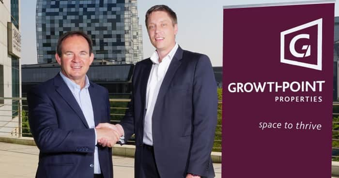 From left to right: L.J. Grobler, Professor in Mechanical Engineering at the North-West University and Werner van Antwerpen, Head of Sustainability at Growthpoint.