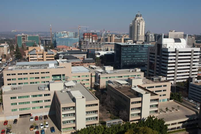 A view from within the Sandton Central node.