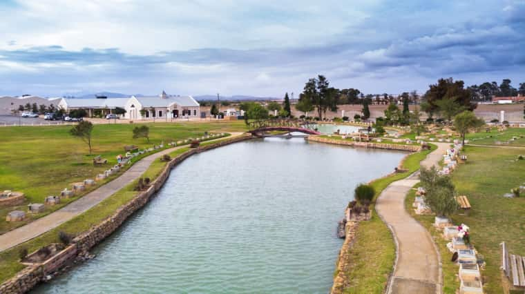 The dam and trees at Durbanville Memorial Park attracts a wide variety of bird life.
