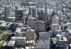 An aerial view of Cape Town Central City.