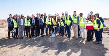 The Izandla Property and Sasol teams involved in the development.