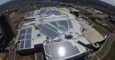 A bird's eye view of Mall of Africa's rooftop Solar PV system.