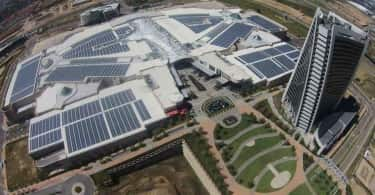 A aerial view of the Mall of Africa.
