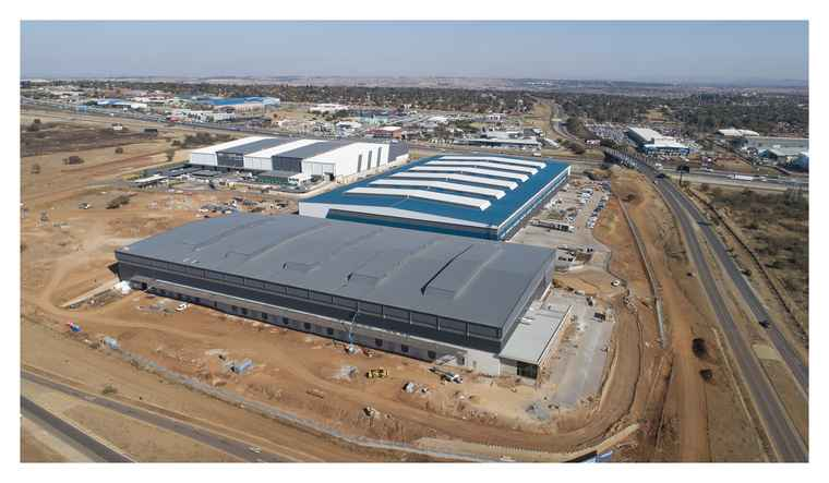 An aerial view of the LouwLardia Logistics Park in Centurion.