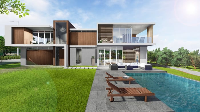 An external view of one of the single residential units available at Umhlanga Ridgeside.