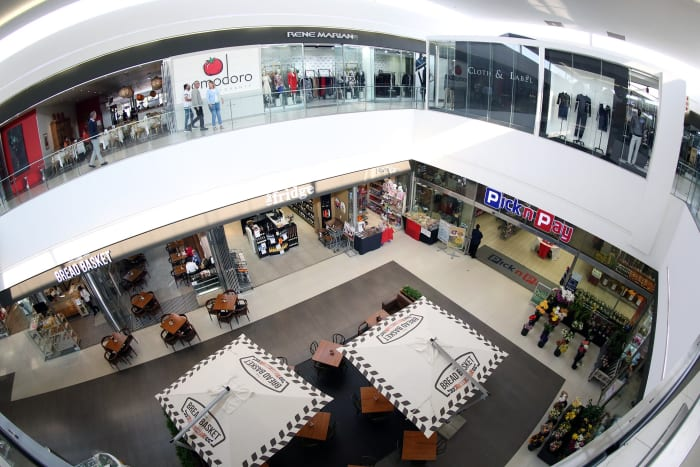 An interior view of Morningside Shopping Centre.